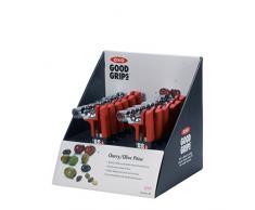 OXO Good Grips 1144681 - Deshuesador de cerezas y aceitunas, color rojo