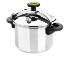 Monix Classica - Olla a presión tradicional de 10 litros, acero inoxidable, 24 cm, color gris