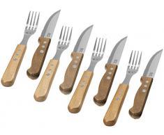 Jamie Oliver Juego Cubertería 8 Piezas Jumbo 4 Cuchillos de Carne y 4 Tenedores