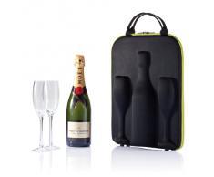 XD Design XDP911311 - Bolsa de transporte para champán (incluye 2 copas altas)