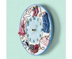 Creative Light- 10 pulgadas (24 cm) de resina sala de estar de moda creativa personalidad de la moda retro de los relojes europeos de arte pastorales reloj de pared de la cocina Silencio