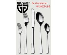 Gräwe Würzburg - Cubiertos para ensalada (acero, cuchara y tenedor)