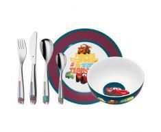 WMF Disney Cars - Vajilla para niños 6 piezas, incluye plato, cuenco y cubertería (tenedor, cuchillo de mesa, cuchara y cuchara pequeña) (WMF Kids infantil)