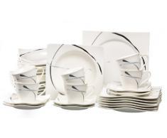 Ritzenhoff & Breker 594188 - Vajilla (30 piezas), color blanco y verde