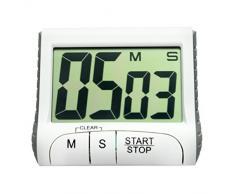 Temporizadores de cocina,Switchali Portátil Digital Reloj del temporizador de cuenta regresiva Pantalla LCD grande Alarma para cocina Barbacoa Grill Fumador con Temporizador de Alarma