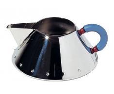 Alessi 9096 - Jarra de acero inoxidable para leche, color plateado y azul