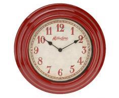 Rojo / Crema Galla Reloj de pared de HomeTime