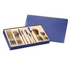 EXZACT Premium Caja de Regalo- Conjunto de Cuberteria de Acero Inoxidable con 26 Piezas – 2 Cucharas de Server, 6 Tenedores, 6 Cuchillos, 6 Cucharas, 6 Cucharaditas (EX994 Caja de Regalo x 26)
