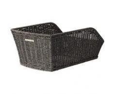 BASIL Cento-Rattan-Look - Cesta de mimbre, color gris