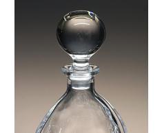 """Botella de cristal, decanter, garrafa, para whisky y licor, de Bohemia, colección """"ORBIT"""", 32,2 cm. de altura"""