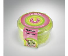 Meliconi Twister Centrifugadora Seca Ensalada Y Ensaladera - 2 En 1 Ø 26 Cm Verde