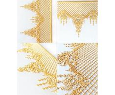 Caolator DIY reticular dentado molde de repostería de silicona, diseño de lace forma específica decoración pastel fiesta herramienta cocina de horno de silicona