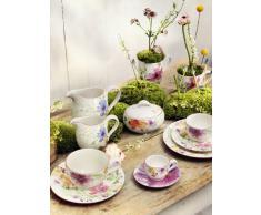 Villeroy & Boch Mariefleur Basic - Taza de café (porcelana Premium, 350 ml, altura de 9 cm) blanco/colorido