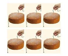 CAOLATOR - Cuchillo con hilo de acero tipo Lira, regulable para cortar bizcochos – Cuchillo tipo Lira para cortar bizcochos, tartas y pasteles - Utensilio ideal para repostería - 2 alambres