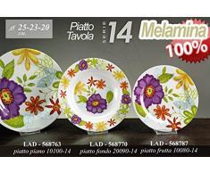 Ideas de cocina: Set 18 vajilla de melamina para el camping caravana jardín mar autocaravana