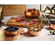 Artesà- Tabla de queso rectangular de madera con letras decorativas, 38 x 20,5 cm, color marrón