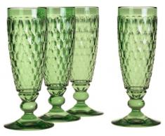 Villeroy & Boch Boston Coloured Copa de Cava Green, 150 ml, Cristal, Verde