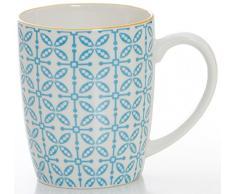 Ritzenhoff & Breker Brunch-und Frühstücksgeschirrset Makina, 6-Teilig, Blau Vajilla, Porcelana, Azul, 36 x 16 x 27 cm, 6 Unidades