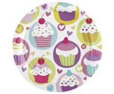 Amscan-Platos, diseño de Cupcake
