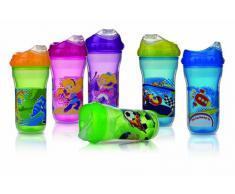 Nuby Ultra Cup - Vaso anti-derrame isolado, 270 ml, 1 unidad [colores surtidos]