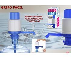 DISPENSADOR BOMBA AGUA UNIVERSAL BOTELLA GARRAFA 5L, 8L, 10L, 2.5L ANTI-GOTEO, ADAPTABLE, MANUAL CAMPING, ESCUELA, OFICINA, HOGAR MARCA REGALITOS TV