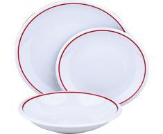Brunchfield Trendy Red - Vajilla de 18 piezas en porcelana