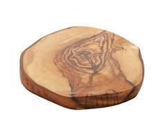 Woodware - plato plano de queso tamaño pequeño de madera de olivo