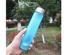 botella de agua deporte vovotrade® Nueva portátil Bike Deportes 280ml Unbreakable botella de plástico de agua (azul)