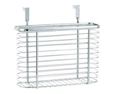Zeller 24859 - Cesta colgante para puerta de armario (metal cromado)