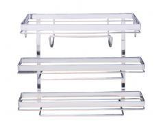 Metal Wenko Static-Loc Portarrollos 30x8.5x3 cm Plata Brillante