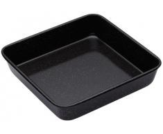 Kitchen Craft Master Class - Bandeja cuadrada para horno (superficie esmaltada, 24 x 24 x 5 cm)