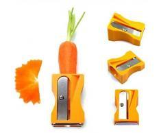 Cortador y Pelador de Vegetales con Forma de Sacapuntas para Zanahorias y Pepino - Utensilio de Cocina