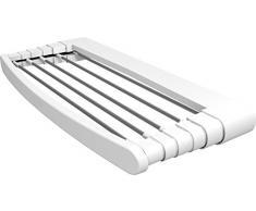 Gimi Telepack 100 Tendedero de pared de resina y aluminio, 7 m de longitud de tendido