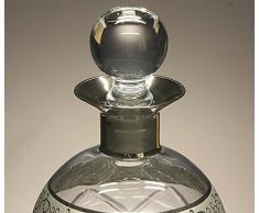"""Botella de cristal, decanter, garrafa, para whisky y licor, colección """"PLATINO"""", 25 cm. de altura."""