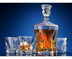 Iceberg Juego de decantador de whisky y vasos de Whisky by Ashcroft Fine Glassware. 5 piezas.
