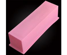 Molde rectangular para pastelería o fabricación de jabón de silicona, 1.2 l.