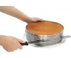 Zenker 7704 - Juego de utensilios para cortar tartas (molde y cuchillo)