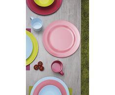 Zak diseños 2173-0420 Duo Cubiertos para Servir Ensalada, Kiwi, 26 cm, Rosa