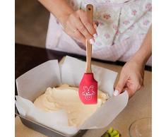 Persiverney Espátula de Crema de Silicona Espátula para Hornear Utensilios de Cocina para Cocina 2PCS Fabulous