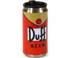 United Labels Simpsons 112184 - Taza / termo con forma de lata de cerveza Duff, 280 ml [importado de Alemania]