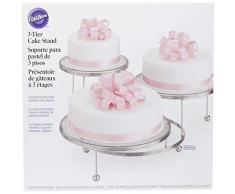 Wilton 307-859 - Soporte para tartas, metal cromado, 3 niveles
