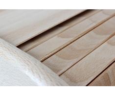 Fiambrera, panera de madera de haya grande, fabricado en la UE