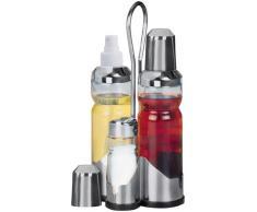 Fackelmann - Juego par aliñar ensaladas (aceite, vinagre, salero, pimentero)