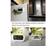 Pantalla de cocina grande Reloj recordatorio Imán de nevera Reloj despertador electrónico es un temporizador de cuenta regresiva (alarma fuerte, cuenta regresiva)