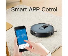 proscenic Robot Aspirador Neo820S 1800Pa función de Google Assistant,Alexa,App y Cinta Magnética, navegación Inteligente, programable para Suelos Duros y Alfombra