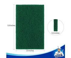 MR.SIGA - Estropajos Resistentes para Cocina, Fregadero, 24 Unidades, 10 x 15 cm, Color Verde