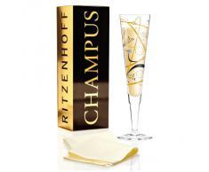 Ritzenhoff 1070205 - Copa alargada de champán, color multicolor