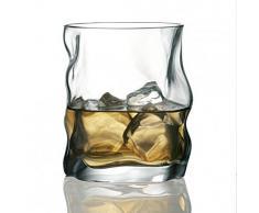 Bormioli Rocco Sorgente 39676i1 - Vaso de whisky (300 ml, con forma irregular, 6 piezas sin línea de llenado)
