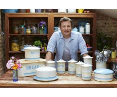 Jamie Oliver - Cubertero para utensilios de cocina, color crema y azul