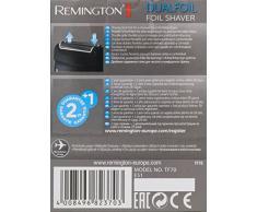 Remington Dualfoil TF70 Afeitadora de Láminas de Viaje, Doble Lámina, Uso en Seco, Funciona con Pilas, Negro